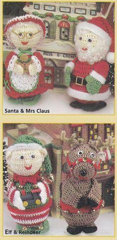 Christmas Ornament Crochet Patterns Elf, Santa and more