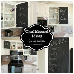 DIY::Chalkboard Ideas For The Kitchen !! Beautiful Ideas & a Makeover ! by @Virginia Kraljevic (LiveLoveDIY)