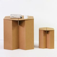 Recycled Cardboard Stool table