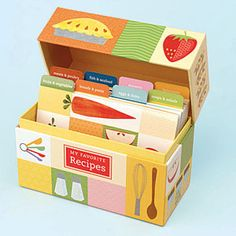 Recipe boxes are a great mother's day gift for the cook in your life! $15.00 or less