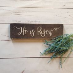 He Is Risen Sign, Cross Wreath, Easter Religious, Easter Cross, Easter Wreaths, Colorful Decor, Painting On Wood, Easter Gift, Easter Decor