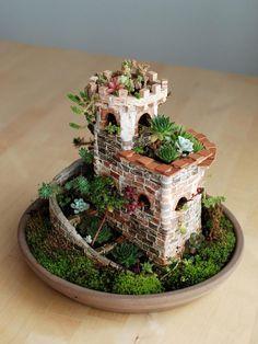 Atalaya espiral No Linde - Incremental Mini-Gardens #nolinde #moss #succulents http://nolinde.com/garden/13