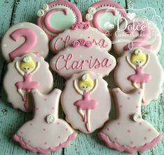 Dolce: Ballerina birthday cookies.