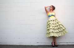 Phone book dress! Feeling inspired from all the unconventional material challenges in Project Runway!