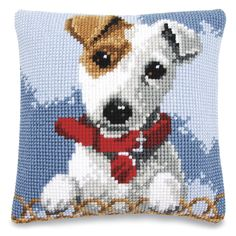 Jack Russell with Collar - Cross Stitch, Needlepoint, Embroidery Kits – Tools and Supplies