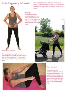Three key post pregnancy workouts, work your pelvic floor, strengthen your core and cardio with your little one! click here for full details!