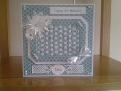 Sue Wilson weave die Happy 30th Birthday, Birthday Woman, Sue Wilson Dies, Paper Weaving, Spellbinders Cards, Birthday Cards For Women, Christmas Cards, Projects To Try, Decorative Boxes