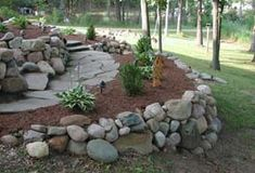 landscaping into a slope ideas | Retaining Walls by First Impression Landscaping