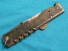 ANTIQUE GERMAN ESCAPE SURVIVAL KNIFE WW1 WW2 MERCATOR