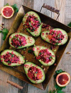 Salade de betteraves et quinoa sur avocats | K pour Katrine
