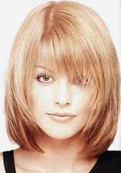 This is a super cute mid length hair style for those of you who don't want a bob cut or stacked A-Line, but still want play in your hair.  Very easy to maintain and style