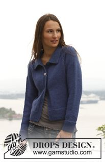 "Winter Morning - Knitted DROPS jacket with raglan sleeves in ""Alaska"". Size: S - XXXL. - Free pattern by DROPS Design"