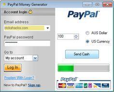 PAYPAL MONEY GENERATOR download hack full. Free PAYPAL