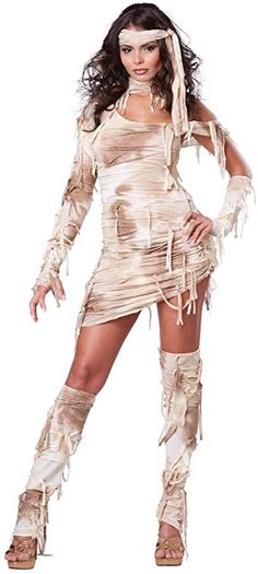 This is a super cute Women's Halloween Costume. Halloween Costumes like this are the epitome of sexy for Halloween 2018 California Costumes Women's Mystical Mummy Sexy Horror Costume, Tan, Large Sexy Horror, Mummy Costume Women, Costumes For Women, Mummy Costumes, Greek Costumes, Girl Costumes, Costumes Sexy Halloween, Adult Costumes, Adult Halloween