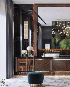 Portfolio: Designer country-house in Penza Luxury Homes Interior, Luxury Home Decor, Modern Interior, Bathroom Interior Design, Ceiling Design, Apartment Design, New Homes, House Design, Bathrooms