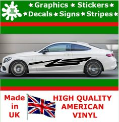 """10"""" High Car Side Stripes Graphics Decal Vinyl Stickers Van Auto Rally Race F2_8"""