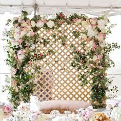 In love with this floral feature wall!