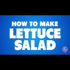 Cooking Basics: How to Make Lettuce Salad ... - #Funny #Pic - funny, Latest Funny Pic, Random Funny Meme