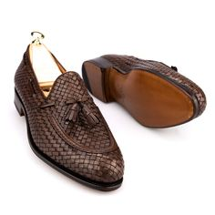 CARMINA BRAIDED TASSEL LOAFERS 80299 FOREST