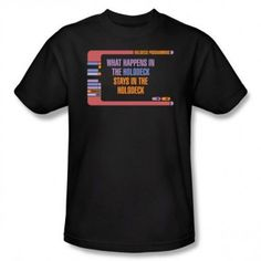 ac01fff7bbd8 Star Trek What Happens in the Holodeck T-Shirt Star Trek Outfits