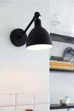 Bazar Wall Lamp Mini - By Rydéns @ RoyalDesign Luxury Lighting, Home Lighting, Modern Lighting, Black Wall Sconce, Wall Sconces, Scandinavian Lighting, Luminaire Applique, Wall Lights, Ceiling Lights