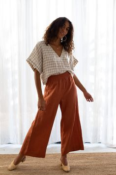 NEW NOW: French linen clothing. A beautiful long pant set that you can Mix and Match. Ready to shop the Elle & Poppy loungewear set. Modest Outfits, Classy Outfits, Modest Fashion, Fall Outfits, Summer Outfits, Cute Outfits, Modest Pants, Loungewear Outfits, Loungewear Set