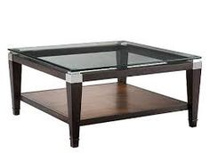 Dunhill Glass Coffee Table- dark wood with the white from the kitchen cabinet Unique Coffee Table, Glass Top Coffee Table, Coffee Tables, Family Room Furniture, Furniture Ideas, Mansion Interior, Thing 1, Living Room Inspiration, Design Inspiration