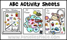 ABC Activity Sheets from www.daniellesplace.com