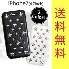 スター スタッズ  星型 手帳型 レザー  iPhone7 アイフォン ケース
