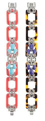 Lulu Frost for J.Crew resin and marcasite bracelet (both colors shown)