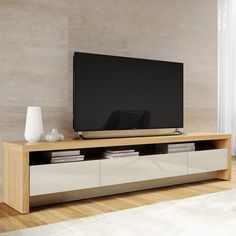 Tv stand in nature wood and off white modern tv cabinet, modern tv wall, . Modern Tv Cabinet, Tv Cabinet Design, Modern Tv Wall, Modern Tv Units, Tv Wall Design, Tv Console Modern, Modern Tv Stands, Tv Unit Design, Living Room Tv Unit