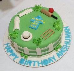 Cricket cake for cricket lover with vanilla flavor Cricket Birthday Cake, Cricket Theme Cake, Make Birthday Cake, Cake Home Delivery, Birthday Cake Delivery, Online Cake Delivery, Buy Cake, Cake Shop, Fantasy Cake