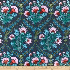 Amazon.com: 54 Wide Amy Butler Cameo Laminated Cotton Josephines Bouquet Ink Fabric By The Yard: amy_butler: Arts, Crafts & Sewing