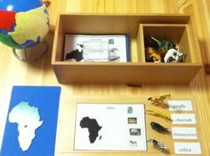 A different take on continent and animals. I luv how the picture is there , the continent, the animals, globe sooo cool