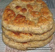 Super brze lepinje — Coolinarika Gibanica Recipe, Kiflice Recipe, Cookbook Recipes, Baking Recipes, Cake Recipes, Bread Recipes, Bosnian Recipes, Croatian Recipes, Salty Foods