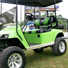 ATTRACTIVE LIME GREEN EZGO GOLF CART with WARRANTY