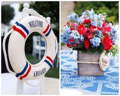 pinterest centerpiece ideas 'navy theme'   Inspired by This Nautical Baby Shower   Inspired by This Blog