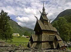 Viking Stave Church, Borgund, Norway. ca 11th century.