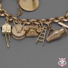 Vintage Rose Gold Charm Bracelet