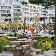 Mellemrummet « Landscape Architecture Platform   Landezine Landscape Architecture, Denmark, Playground, The Neighbourhood, Multi Story Building, Street View, Park, Platform, Children Playground