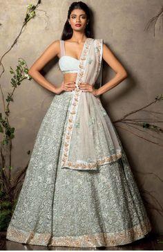 Shyamal & Bhumika Light Blue Lehenga Choli - Buy Replica at Gujarati Dresses- 1200$ USD http://www.gujaratidresses.com/shyamal-bhumika-light-blue-lehenga-choli/