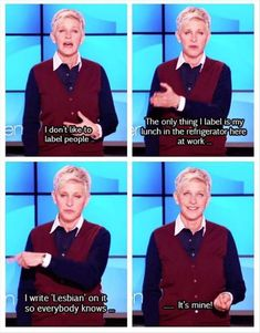 Ellen Degeneres is one of my favorite people ever! :D @Erin Cregan