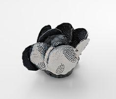 Julie Blyfield  Brooch: Spiral 2013  Oxidised sterling silver, paint