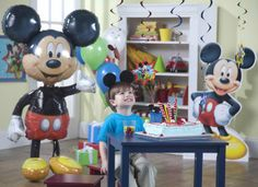 Mickey Mouse Birthday Party Ideas from BirthdayExpress.com. Gotta get the balloon!