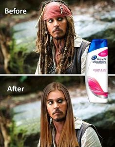 Johnny Depp Shampoo Shower Before and After Funny Images, lol, funnypics, humor. Super Funny Pictures, Funny Images, Funny Photos, Meme Pics, Funny Animal Memes, Funny Jokes, Funny Friend Memes, Funny Cute, The Funny