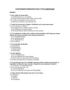 Examen de Formación Cívica y Ética CONTESTADO by alumnosbine via slideshare