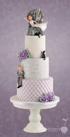 wedding cakes lace From that day to the end of my days. Hergestellt von Black Cherry Cake Compa From that day to the end of my days. Manufactured by Black Cherry Cake Company. Blush Wedding Cakes, Funny Wedding Cakes, Floral Wedding Cakes, Beautiful Wedding Cakes, Wedding Humor, Wedding Cake Designs, Wedding Cake Purple, Unusual Wedding Cakes, Floral Cake