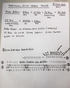 """796 Beğenme, 16 Yorum - Instagram'da Nurgün Tezcan (@nurguntezcan): """"Portakal dilimi bebek yeleği yapılışı2.aşama"""""""