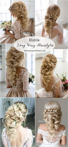 Elstile Long Wedding Hairstyles  #weddings #weddingideas #hairstyles #weddinghair ❤️ http://www.deerpearlflowers.com/elstile-wedding-hairstyles/