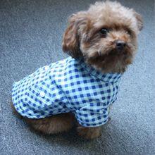 Pet a Roupa Do Cão Para Cães Pequenos Casaco Primavera Outono Camisa Xadrez Lazer Camisola Teddy Chihuahua Filhote de Cachorro Traje Vestuário Vestuário(China)